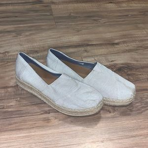 Toms Slip On Espadrilles Shoes Size 9